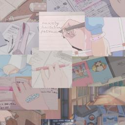 freetoedit anime kawai nostalgic school pastel wallpaper bulletjournal page aesthetic