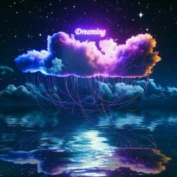freetoedit clouds night sky dream stars be_creativee