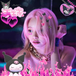 chaeyoung sonchaeyoung twice twicechaeyoung chaeyoungtwice once kpop kpopedit kpopidol edit cyber cyberedit kuromi pink freetoedit