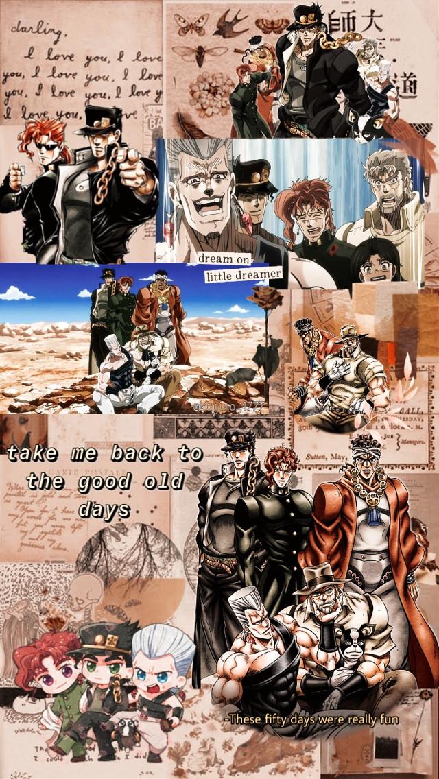 ......  #freetoedit #jojosbizarreadventure #jojo #jojobizarreadventure #jojopart3 #jotarokujo #jotaro #kakyoin #kakyoinnoriaki #avdol #polnareff #joseph #josephjoestar #jjba #iggy #animewallpaper #wallpaper #brownaesthetic #brownbackground