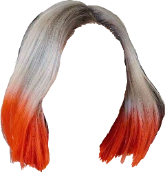 hair pelo color colorful naranja orange gris grey freetoedit