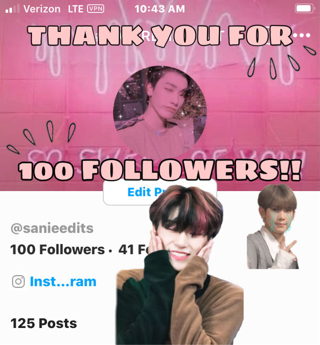THANK YOU SOOO MUCH FOR 100 FOLLOWERS!! I REALLY APPRECIATE IT AHDHDJIXJDF IM SOO HAPPY SKDJDJD🥺💗💗💗💗💗 . . . taglist🤍 @jung_wooyoung99  @yunhosupportbott  @mariam_137  @atinypresent  @kang_mon  @nctinthehouse_05  @taes_shoes  @kirs_hop  @-matryosuga-  @seonghwa_eomma