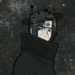 itachi uchiha uchihaitachi itachiuchiha sharingan night stars anime akatsuki naruto freetoedit