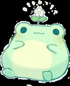 rana frog kwaii flor freetoedit