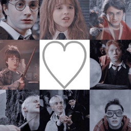 polarr filtered collage harrypotter hermionegranger ronweasley dramione ronmione hinny thegoldentrio freetoedit love