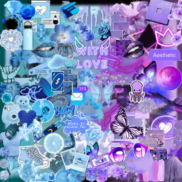 asthetic purple purpleaesthetic blue blueasthetic butterfly background