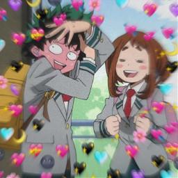 freetoedit bnha edit izuocha izuochaedit bnhaedit myheroacademia deku midoriya ochako uraraka ship bnhaship straight lol lmao anime otaku