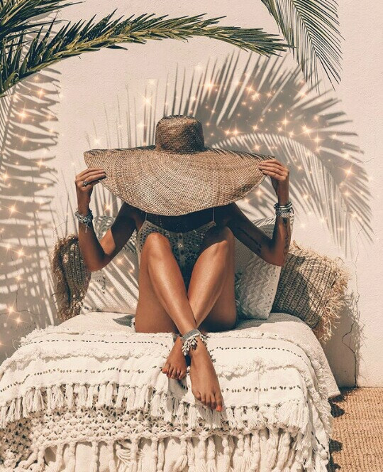 You're still important to me, with or without conversation! . . #freetoedit #exotic #skin #skintone #beach #summer #hat #woman #photography #aesthetic #shadow #leaves #plant