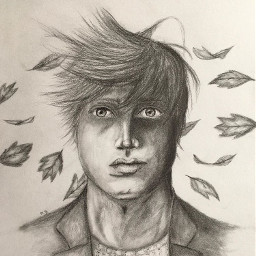man artwork artistic potrait potraitdrawing pencildrawing pencilsketch leafs pencilart pencildrawings mydrawing mydrawings drawingsketch sketch portraitdrawing myartwork artistsoninstagram realisticdrawing myartstyle art pencildrawingoriginal windswept windswepthairs
