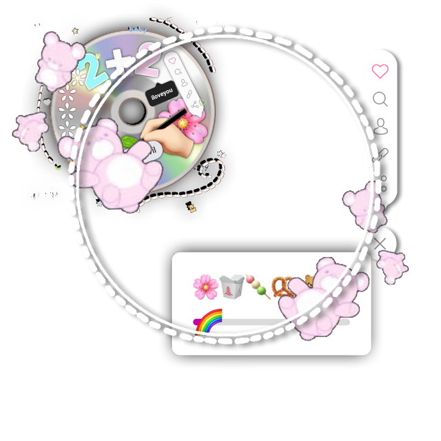 #png #overlay #cute #pink #pastel #bear #cd #album #instagram #frame #aesthetic #game #gaming #kpop #korea #asia