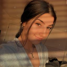 charliedamelio sunset goldenhour smile lovely freetoedit