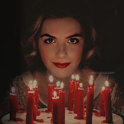 freetoedit remixit plzfollow freewallpaper happybirthday 16 halloween satan candles glowing wish witch sabrinaspellman