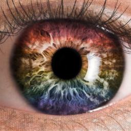 freetoedit eye rainbow rainbow🌈 rainboweye rainboweyes glitter eyelashes глаз радуга радужный радужныйглаз блестки 🌈 ресницы 👁