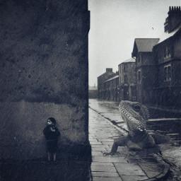 freetoedit blackandwhite vintagephoto streetphotography lizard