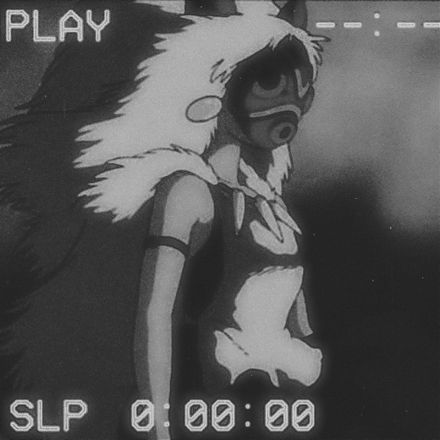 #freetoeditPrincess Mononoke #StudioGhibli #BlackandWhite