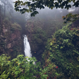 waterfall mountain forest nature beautifulnature myphoto travel adventure beautifulday freetoedit