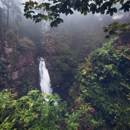 waterfall mountain forest nature beautifulnature myphoto travel adventure beautifulday freetoedit