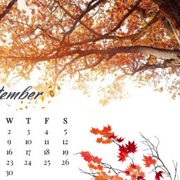 septemberchallenge septembercalender celender 2020 fall autumnleaves srcseptembercalendar septembercalendar freetoedit