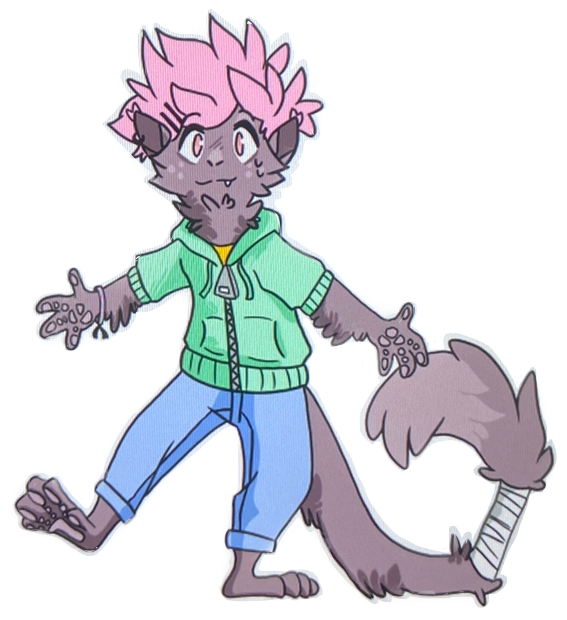 Hehehe... My first Cosmo sticker. Y'all can use it but don't claim it as yours pls.  #furry #fursona #sticker #digitalart #monkey #freetoedit