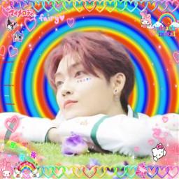 kevinmoon kevintbz theboyz tbz kpop sanrio rainbowcore cuteedit cybercore