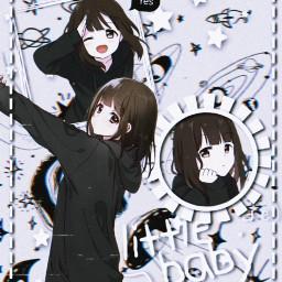 freetoedit anime menhera menherachan lovely
