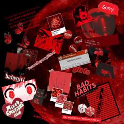 red aesthetic aestheticred redaesthetic dark evil redaestheicbackground background freetoedit