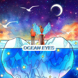 oceaneyes angelwings angel wings ocean heart ice cold frozen couple sky stars galaxy freetoedit srcneonwings neonwings
