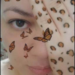 photography selfportrait baresoul cheetahprint hennaink hennaart monarchbutterflies awaytoexpress creativity mymind myart mysoul beautifulmind love selflove darklytwisted freetoedit