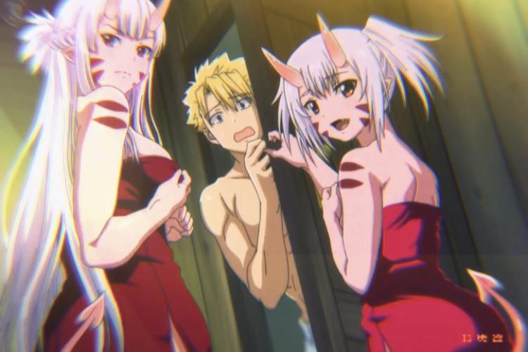 Anime: Peter Grill to Kenja Characters: Mimi Apalcas, Lisa Apalcas and Peter Grill  #anime #fantasy #comedia #harem #waifus #cute #animegirls