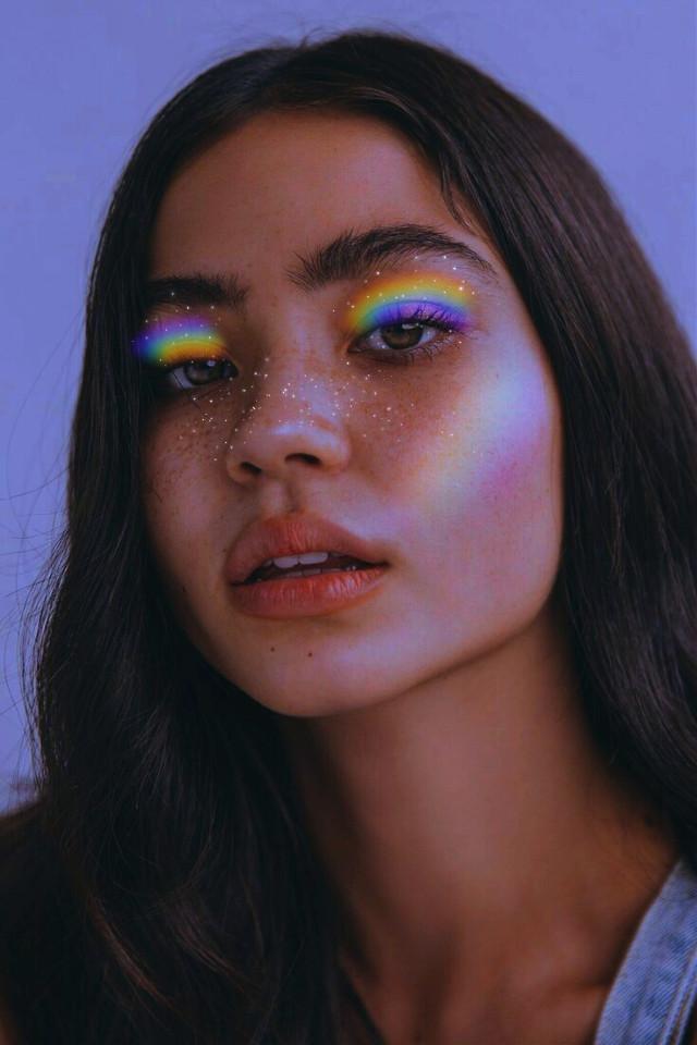 #picsart #heypicsart #rainbow #aesthetic #makeup #sparkle #rainbowmakeup #magic #magical #surreal #surrealism #rainbowbrush #curvetool