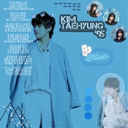 teahyung bts blue freetoedit