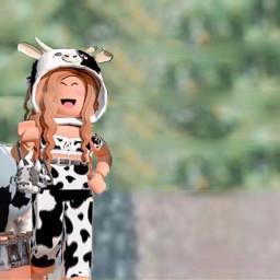 gfxforroblox gfxgirl gfx girl roblox cow aesthetic