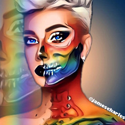 freetoedit jamescharles rainbowmakeup