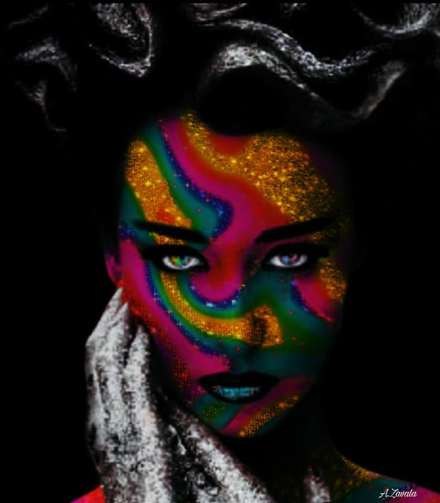 #artisticportrait #myedit #undefined #byme #remixit #colorful #doubleexposure