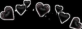 heart filter black emoji freetoedit