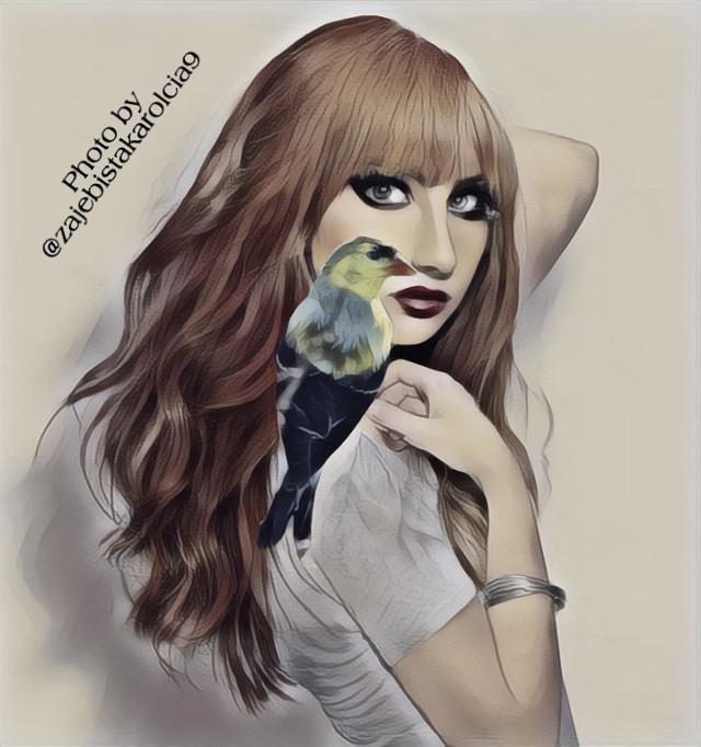 #freetoedit #background #bird #ptak💋 #ptaki #beautifulwoman💓💕 #woman #womanface #face #eyes #redmouth #mouth #hair #hairstyle #style #photobyme👆📸 #photoby @zajebistakarolcia9 @zajebistakarolcia @zajebistakarolcia