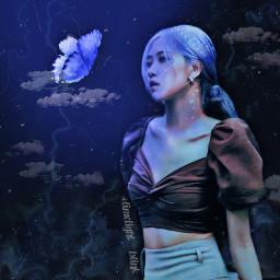 dark darkedit fantasy rose blackpink blackpinkrose parkchaeyoung roseannepark butterfly light purple blue ikonics_1kcontest squishyxchogiwa_contest samia_contest thelastsuga900contest freetoedit
