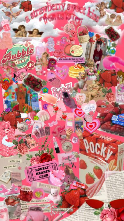 #vintage #tommyinit #strawberrymilk #strawberry #strawberrystickerremix #tubbo #pink #strawberrycore #aesthetic