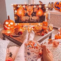 freetoedit harrypotter fallaesthetic orangeaesthetic orange aesthetic fall autumn autumnaesthetic comfycozy
