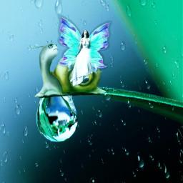 fairy fantasy rain raindrops drop myimagination freetoedit