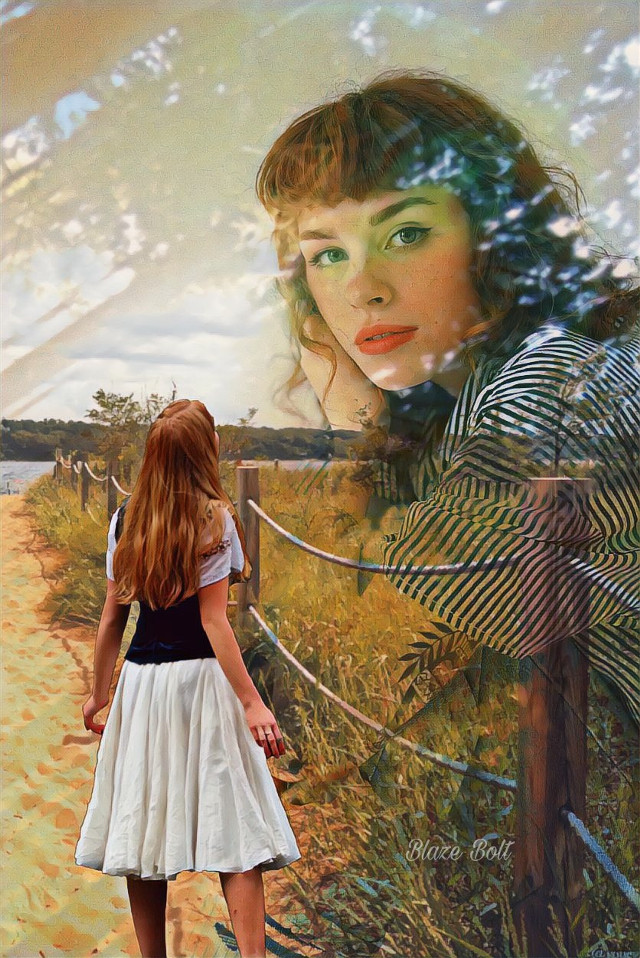 #doubleexposure #path #photomanipulation #fantasy #woman