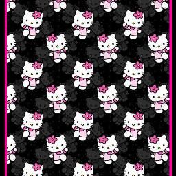freetoedit wallpaper background backgroundsticker backdrop hellokitty hellokittylover black popart japan japanesecartoon cartoon pattern kittylove hellokittyaddict cat stickers backgrounds followme