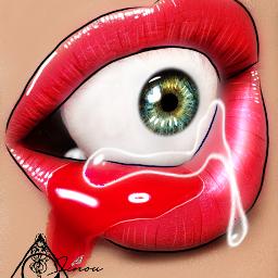 lips lipstick gloss eyes eye eyeball red dripping dripart editbyme editor tear editedbyme editing lipsedit editmanipulation ibispaintx ibispaintxedit likeit like likeme