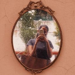 me random aesthetic mirror mirrorselfie vintage brown wall india hyderabad indiekid girl love bekind