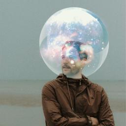 picsart boy galaxy milkyway space bubbles surreal surrealart likes love friends freetoedit freedom nature