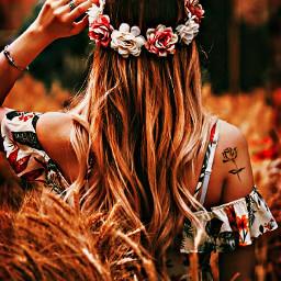 flowers autumn girl cool tattoo flowwr love freetoedit