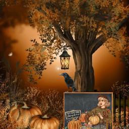 freetoedit ircchalkboarddesign chalkboarddesign autumn pumkin