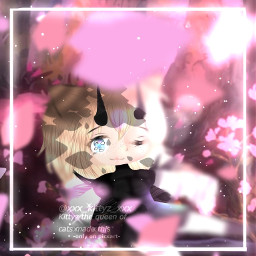 freetoedit kittyz kittyzedit gacha gachalife gachaclub gachalifeedit gachalifeedits gachalifeeditor pink petal background cute anime art