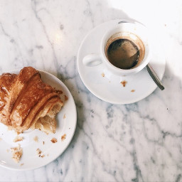 food breakfast hotchocolate crassoint yum yummy coffee coffeecup flakey aesthetic asthetic modern fresh white