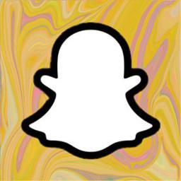 freetoedit snapchatlogo iconbackground icon snapchap trippy snap yellow logo